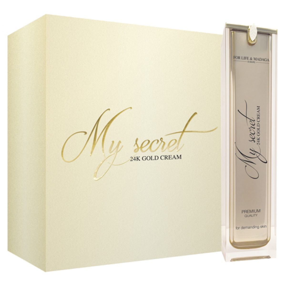 FOR LIFE & MADAGA: My secret 24K GOLD CREAM & 24K GOLD ELIXIR